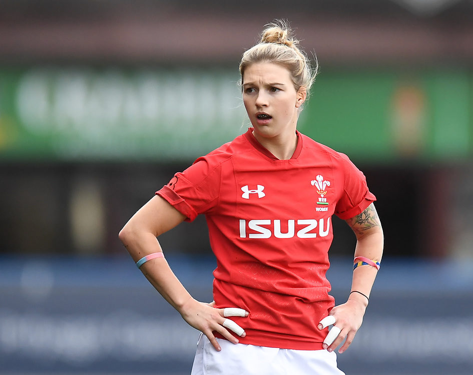 Wales Keira Bevan<br /> Wales Women v South Africa Women<br /> Autumn International<br /> <br /> Photographer Mike Jones / Replay Images<br /> Cardiff Arms Park<br /> 10th November 2018<br /> <br /> World Copyright © 2018 Replay Images. All rights reserved. info@replayimages.co.uk - http://replayimages.co.uk