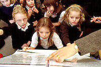 Valley primary school, Bromley. Literacy class for 7/8 year olds. story telling/writing