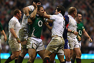 'Twickenham - Saturday, February 27th, 2010: Danny Care (right) of England and Tomas O'Leary of Ireland (L green) fight during the RBS Six Nations match between England and Ireland at Twickenham. (Pic by Andrew Tobin/Focus Images)
