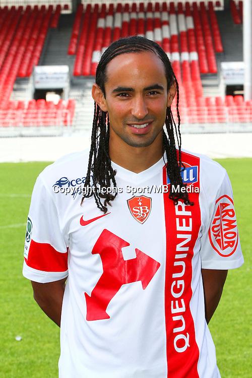 Bruno GROUGI - 08.09.2014 - Photo officielle Brest - Ligue 2 2014/2015<br /> Photo : Maxime Kerriou / Icon Sport