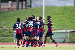 Players of FC Minsk celebrate goal during football match between FC Minsk and ZNK Olimpija Ljubljana in 2nd Qualifying Group of UEFA Women's Champions League 2018/19, on August 7, 2018 in Stadion ZAK, Ljubljana, Slovenia. Photo by Urban Urbanc / Sportida