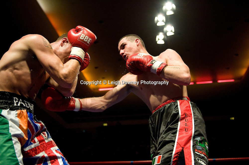 Bobby Gladman v Andrew Patterson at Watford Colusseum 29 November 2009 Promoter Mickey Helliet, Hellraiser Promotions: Credit: ©Leigh Dawney Photography