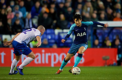 BIRKENHEAD, ENGLAND - Friday, January 4, 2019: Tottenham Hotspur's Son Heung-min during the FA Cup 3rd Round match between Tranmere Rovers FC and Tottenham Hotspur FC at Prenton Park. (Pic by David Rawcliffe/Propaganda)