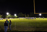 Homecoming football with the Winnisquam Bears against the Frankin Tornadoes under the lights Friday, October 12, 2012.  (Karen Bobotas/for the Laconia Daily Sun)