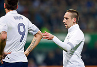 FOOTBALL - FRIENDLY GAME 2011/2012 - GERMANY v FRANCE  - 29/02/2012 - PHOTO DPPI - FRANCK RIBERY / OLIVIER GIROUD (FRA)