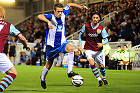 Football<br /> Carling Cup Round Two Hartlepool United vs Burnley at Victoria Park. Andy Monkhouse (Hartlepool United) controls the bouncing ball<br /> 25/08/2009. Credit Colorsport / Darren Blackman