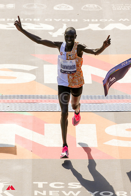Geoffrey Kamworor, KEN, NN, Nike, wins<br /> TCS New York City Marathon 2019
