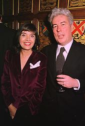 BARBARA FOLLETT MP and her husband writer KEN FOLLETT, at a dinner in London on 2nd February 1999.MNU 73