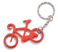 red bike keychain