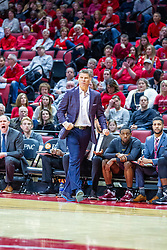 NORMAL, IL - January 19:  Porter Moser during a college basketball game between the ISU Redbirds and the Loyola University Chicago Ramblers on January 19 2020 at Redbird Arena in Normal, IL. (Photo by Alan Look)
