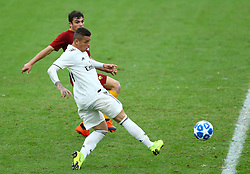November 27, 2018 - Rome, Italy - AS Roma - FC Real Madrid : UEFA Youth League Group G .Rodrigo of Real Madrid scores the goal of 1-4 at Tre Fontane Stadium in Rome, Italy on November 27, 2018. (Credit Image: © Matteo Ciambelli/NurPhoto via ZUMA Press)