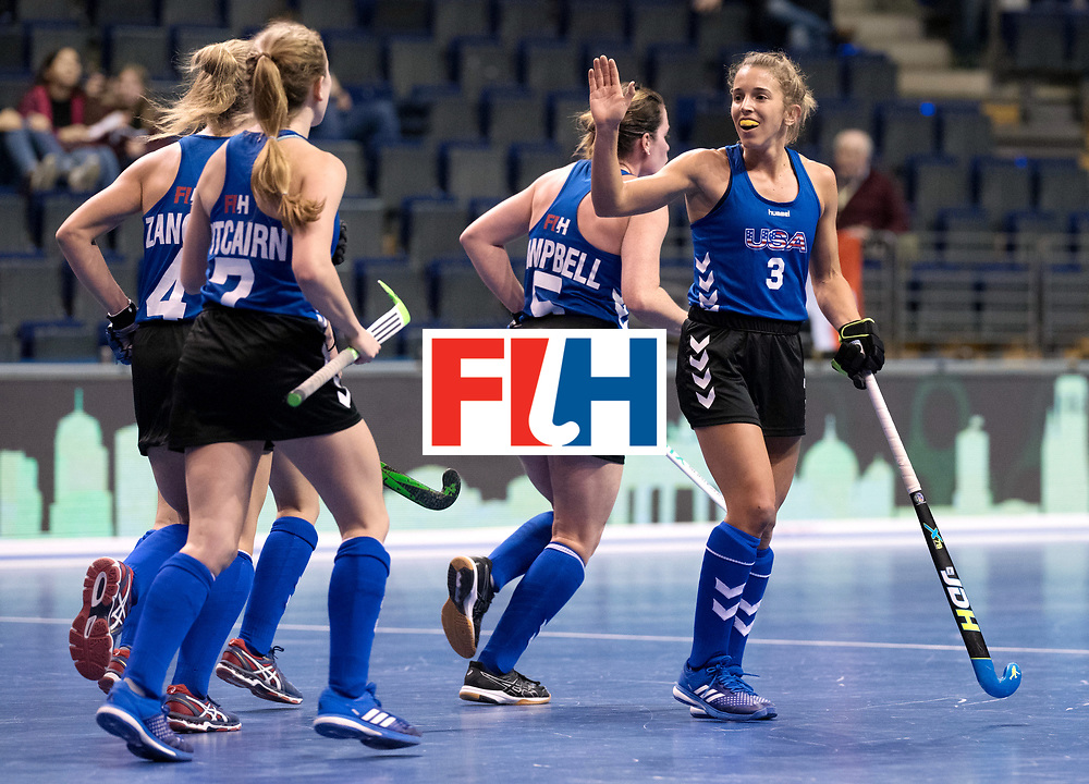 BERLIN - Indoor Hockey World Cup<br /> Women: United States - Kazakhstan<br /> foto: BARHAM Mary.<br /> WORLDSPORTPICS COPYRIGHT FRANK UIJLENBROEK