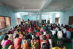"""15 September 2018, Laxmipur, Nepal: """"You are the light of the world"""" was the theme, based on Matthew 5:14, as hundreds gathered at the Nepal Evangelical Lutheran Church in Laxmipur on 15 September to worship together with ecumenical guests and visitors from the Lutheran World Federation. The Nepal Evangelical Lutheran Church was established in 1943, and celebrated its 75th anniversary on 14 September."""