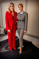 NEW YORK - Koningin Maxima tijdens een ontmoeting met Ivanka Trump. Maxima is in New York in haar hoedanigheid van speciale pleitbezorger van de secretaris-generaal van de Verenigde Naties voor de jaarlijkse Algemene Vergadering van de Verenigde Naties. ANP ROYAL IMAGES ROBIN UTRECHT **NETHERLANDS ONLY**