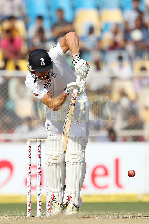 Nick Compton of England during day three of the 1st Airtel Test Match between India and England held at the Sadar Patel Stadium in Ahmedabad, Gujarat, India on the 17th November 2012...Photo by Ron Gaunt/ BCCI/ SPORTZPICS..Use of this image is subject to the terms and conditions as outlined by the BCCI. These terms can be found by following this link:..http://www.sportzpics.co.za/image/I0000SoRagM2cIEc