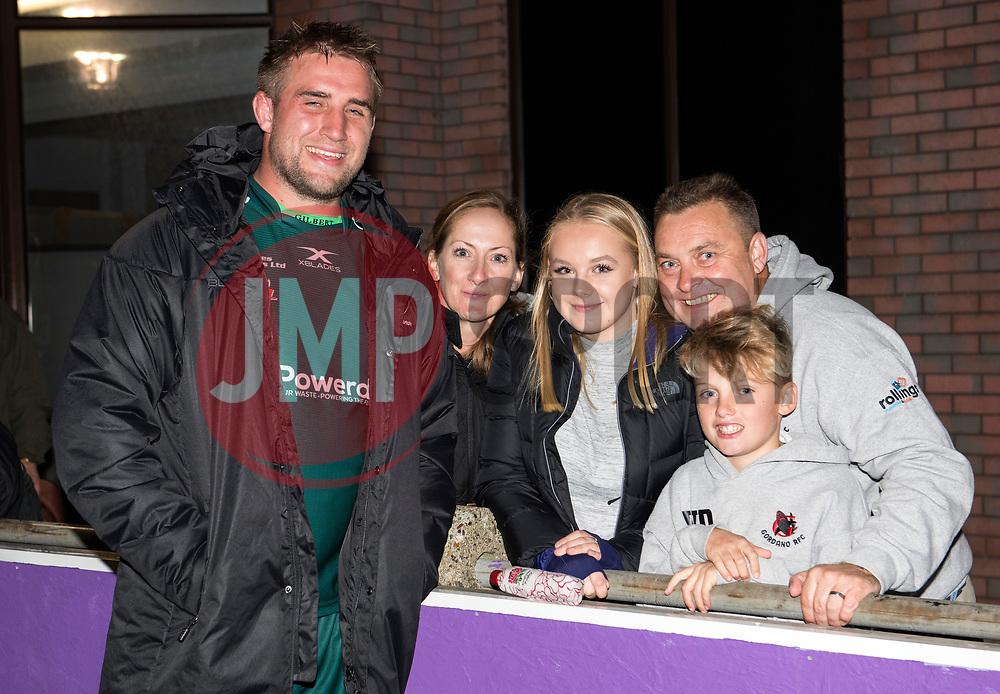 Tom Smallbone of London Irish 'A' with family - Mandatory by-line: Paul Knight/JMP - 22/09/2017 - RUGBY - Clifton RFC - Bristol, England - Bristol United v London Irish 'A' - Aviva A League