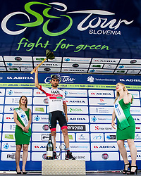 Diego Ulissi (ITA) of UAE Team Emirates celebrates at trophy ceremony after 3rd Stage of 26th Tour of Slovenia 2019 cycling race between Zalec and Idrija (169,8 km), on June 21, 2019 in Slovenia. Photo by Matic Klansek Velej / Sportida