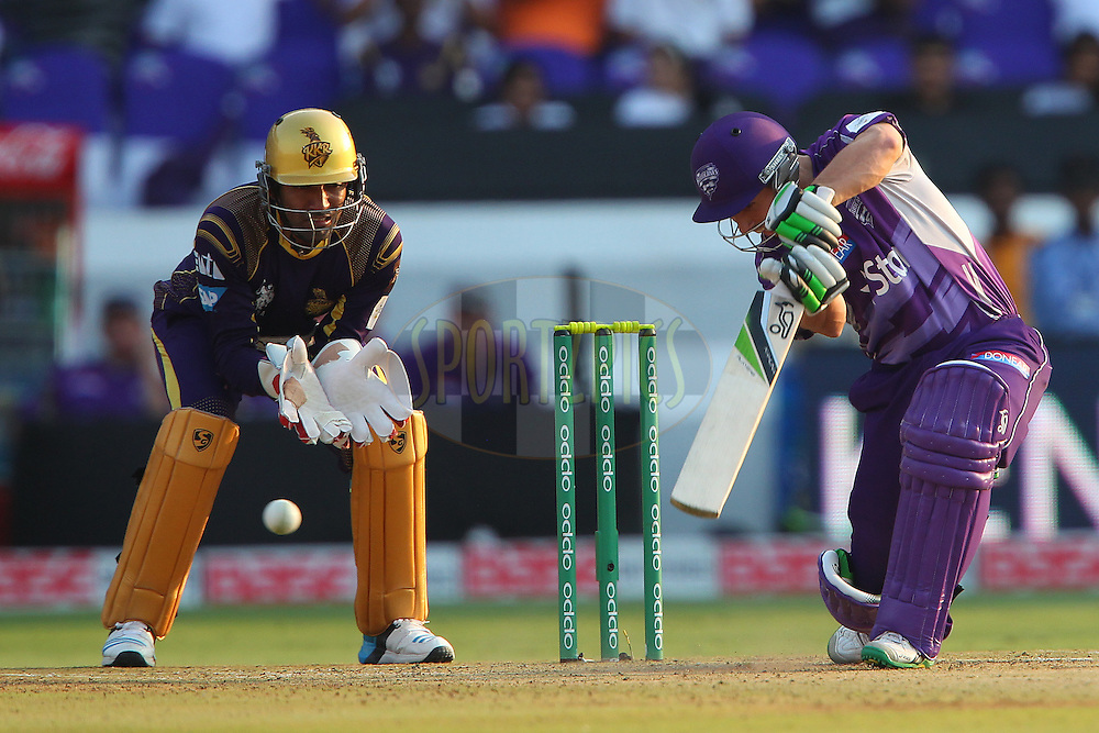 Jon WELLS of the Hobart Hurricanes  during the first semi final match of the Oppo Champions League Twenty20 between the Kolkata Knight Riders and the Hobart Hurricanes held at the Rajiv Gandhi Cricket Stadium, Hyderabad, India on the 2nd October 2014<br /> <br /> Photo by:  Ron Gaunt / Sportzpics/ CLT20<br /> <br /> <br /> Image use is subject to the terms and conditions as laid out by the BCCI/ CLT20.  The terms and conditions can be downloaded here:<br /> <br /> http://sportzpics.photoshelter.com/gallery/CLT20-Image-Terms-and-Conditions-2014/G0000IfNJn535VPU/C0000QhhKadWcjYs