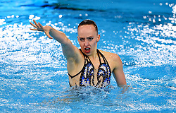 Germany's Marlene Bojer in the Synchronised Swimming - Solo Technical Routine Final during day five of the 2018 European Championships at the Scotstoun Sports Campus, Glasgow.