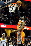 Jan. 19, 2011; Cleveland, OH, USA; Phoenix Suns power forward Hakim Warrick (21) lays in a basket during the fourth quarter against the Cleveland Cavaliers at Quicken Loans Arena. The Suns beat the Cavaliers 106-98. Mandatory Credit: Jason Miller-US PRESSWIRE