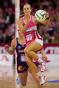 RENAE HALLINAN - Action from the 2013 ANZ Championship Grand Final between the Adelaide Thunderbirds and Queensland Firebirds played at the Adelaide Entertainment Centre, Adelaide, South Australia, Sunday 14th July, 2013. [Photo: Ryan Schembri - SMP Images]
