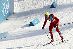 PYEONGCHANG, Feb. 25, 2018  Li Xin of China (1st L) competes during ladies' 30km mass start classic of cross-country skiing at the 2018 PyeongChang Winter Olympic Games at Alpensia Cross-Country Skiing Centre, PyeongChang, South Korea, Feb. 25, 2018. Li Xin got the 37th place in a time of 1:38:04.9. (Credit Image: © Li Gang/Xinhua via ZUMA Wire)