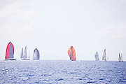 sailing in the St. Barth's Bucket Regatta, day three.