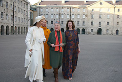 An exhibition of the works of Irish fashion designer Neilli Mulcahy...Pictured at the National Museum of Ireland was the opening of Neilli Mulcahy - Irish Haute couture of the 50s and 60s. On the 18th of October 2007...Throughout the 50s and 60s Neilli Mulcahy was one of Irelands leadinfashion designers, prducin Haute Couture garments to the highest Parisian standard. The exhibition is the visual evocation an era when Irish reflected confidence in native materials and crafts and married this to the most modern and sophisticated taste...Commissioned by the national museum of Ireland. On October 18th 2007. *** Local Caption *** Copyright and Related Rights Act, 2000..Under the Copyright and Related Rights Act, 2000 the copyright of any photograph or image belongs to and remains with SKP & Associates Ltd trading as Lensmen & Associates. If clients wish to use their images for promotional or advertising purposes SKP & Associates Ltd T/A Lensmen & Associates would recommend that the Client would get model release forms signed and dates from the people within the image. If there are children within the images either a parent or a guardian must sign model release forms before any photographs are taken, thus giving written permission to the client to the use of the images for any purpose the client so wishes. It would  be up to you,  It is important to note that under the COPYRIGHT AND RELATED RIGHTS ACT 2000 the copyright of these photographs are the property of the photographer and they cannot be copied, scanned, reproduced or electronically stored in any form whatsoever without the written permission of the photographer