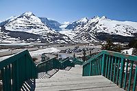 View of Snow Dome Glacier from Columbia Icefield Visitors' Center, Jasper National Park, Alberta, Canada