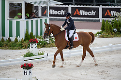 Jutta Rus Machan, (AUT), Prada - Team Competition Grade IV Para Dressage - Alltech FEI World Equestrian Games™ 2014 - Normandy, France.<br /> © Hippo Foto Team - Jon Stroud <br /> 25/06/14