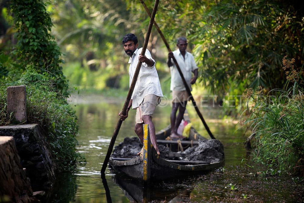 Kerala backwaters in Kerala, India 2013