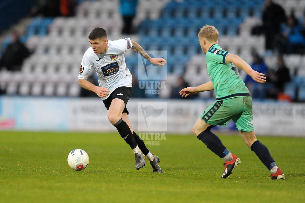 TELFORD COPYRIGHT MIKE SHERIDAN Matt Stenson of Telford (on loan from Solihull Moors) during the Vanarama National League Conference North fixture between AFC Telford United and Spennymoor Town on Saturday, November 16, 2019.<br /> <br /> Picture credit: Mike Sheridan/Ultrapress<br /> <br /> MS201920-030