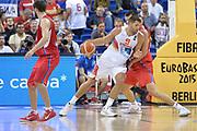 DESCRIZIONE : Berlino Berlin Eurobasket 2015 Group B Spain Serbia<br /> GIOCATORE : Felipe Reyes<br /> CATEGORIA : Palleggio Controcampo<br /> SQUADRA : Spain<br /> EVENTO : Eurobasket 2015 Group B<br /> GARA : Spain Serbia <br /> DATA : 05/09/2015<br /> SPORT : Pallacanestro<br /> AUTORE : Agenzia Ciamillo-Castoria/I.Mancini<br /> Galleria : Eurobasket 2015<br /> Fotonotizia : Berlino Berlin Eurobasket 2015 Group B Spain Serbia