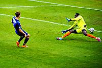11.05.2014,<br /> Fotball, Eliteserien , Tippeligaen <br /> Stabæk - Sarpsborg 08<br /> Fredrik Brustad setter målet til 3-0 forbi Duwayne Kerr<br /> Foto: Sjur Stølen , Digitalsport