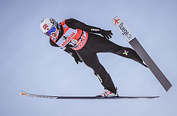 12.01.2019, Stadio del Salto, Predazzo, ITA, FIS Weltcup Skisprung, Val di Fiemme, Herren, 1. Wertungsdurchgang, im Bild Marius Lindvik (NOR) // Marius Lindvik of Norway during his 1st Competition Jump for the Four Hills Tournament of FIS Ski Jumping World Cup at the Stadio del Salto in Predazzo, Italy on 2019/01/12. EXPA Pictures © 2019, PhotoCredit: EXPA/ JFK