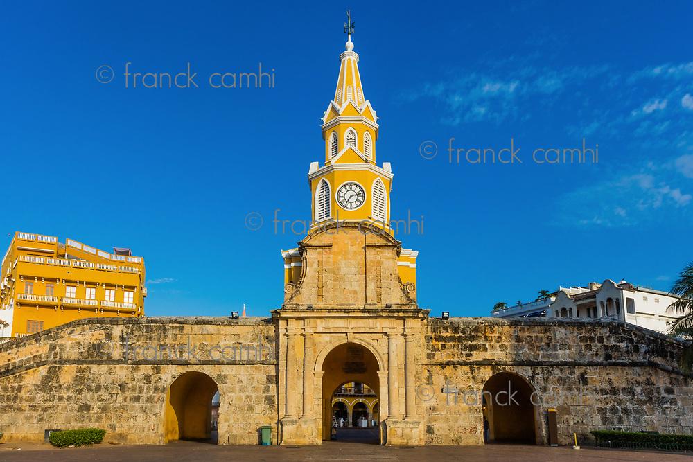 Plaza de la Paz Centro Historico aera of Cartagena de los indias Bolivar in Colombia South America