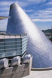 Hot shop cone of Museum of Glass, Tacoma, Washington, United States