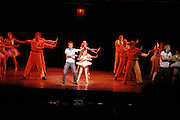 cast members  on stage as  Billy Elliot the Musical celebrates First Birthday. Victoria Palace Theatre. 12 May 2006. ONE TIME USE ONLY - DO NOT ARCHIVE  © Copyright Photograph by Dafydd Jones 66 Stockwell Park Rd. London SW9 0DA Tel 020 7733 0108 www.dafjones.com