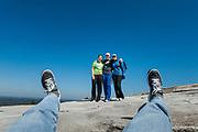 Selfie group snapshot, Stone Mountain, Georgia, USA.