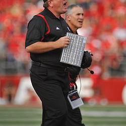 Sep 7, 2009; Piscataway, NJ, USA; Cincinnati head coach Brian Kelly shouts instructions to his team during the first half of Rutgers 47-15 loss to Cincinnati in NCAA college football at Rutgers Stadium.