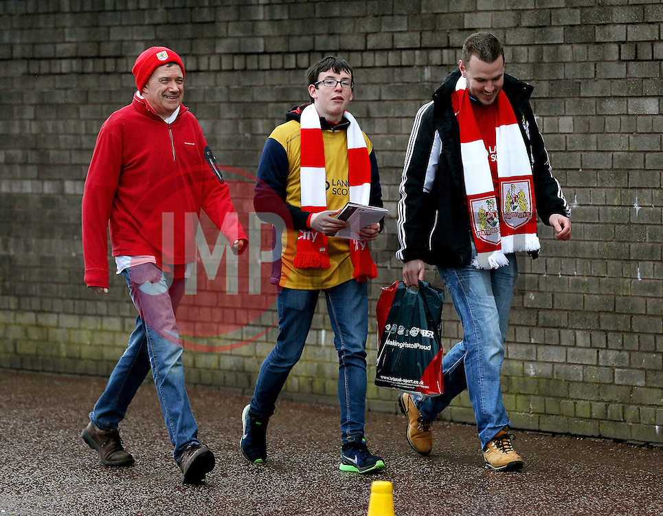 Bristol City fans arrive at Turf Moor - Mandatory by-line: Matt McNulty/JMP - 28/01/2017 - FOOTBALL - Turf Moor - Burnley, England - Burnley v Bristol City - Emirates FA Cup fourth round