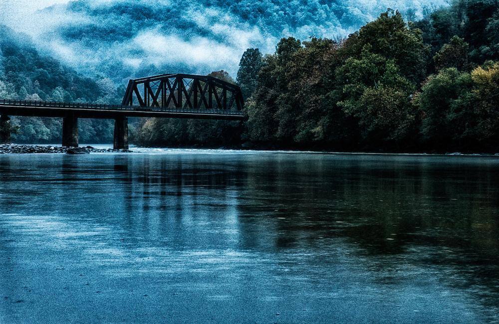 Railroad bridge over the New River, West Virginia