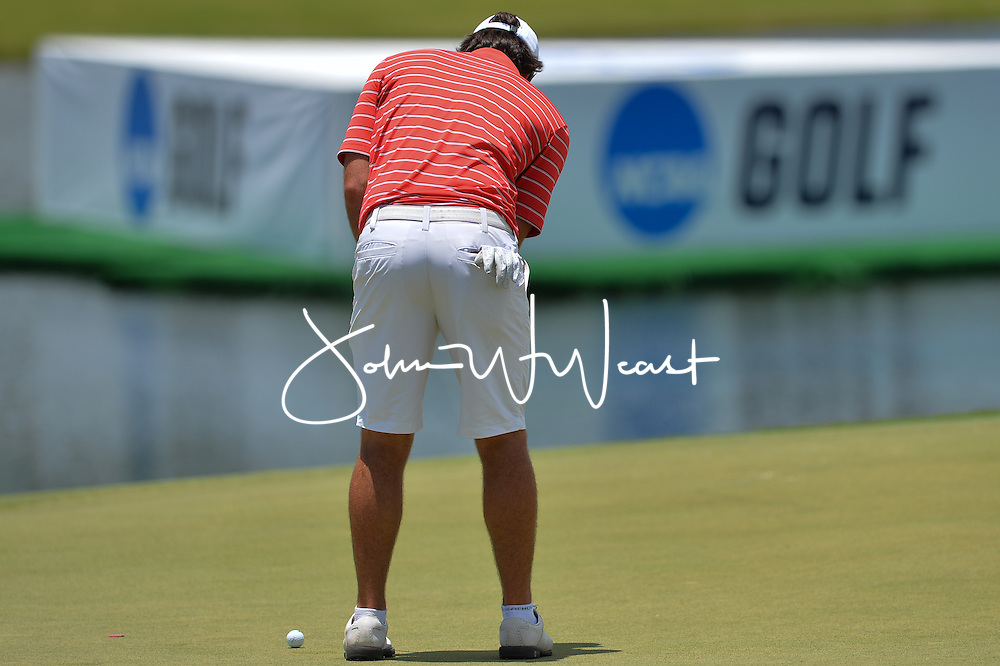 Mito Pereira during  the second round of the NCAA Golf Championships at the Concession Golf Club in Bradenton, FL.