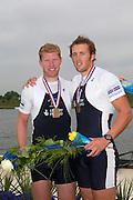 Poznan, POLAND.  2006, FISA, Rowing World Cup the Men's Double Sculls Final. GBR M2X Bow Matt WELLS and Stephan  ROWBOTHAM,   'Malta Regatta course;  Poznan POLAND, Sat. 17.06.2006. © Peter Spurrier   ....[Mandatory Credit Peter Spurrier/ Intersport Images] Rowing Course:Malta Rowing Course, Poznan, POLAND