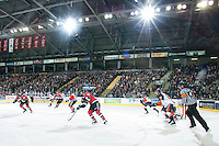 KELOWNA, CANADA - NOVEMBER 1:    Kamloops Blazers at the Kelowna Rockets on November 1, 2012 at Prospera Place in Kelowna, British Columbia, Canada (Photo by Marissa Baecker/Shoot the Breeze) *** Local Caption ***