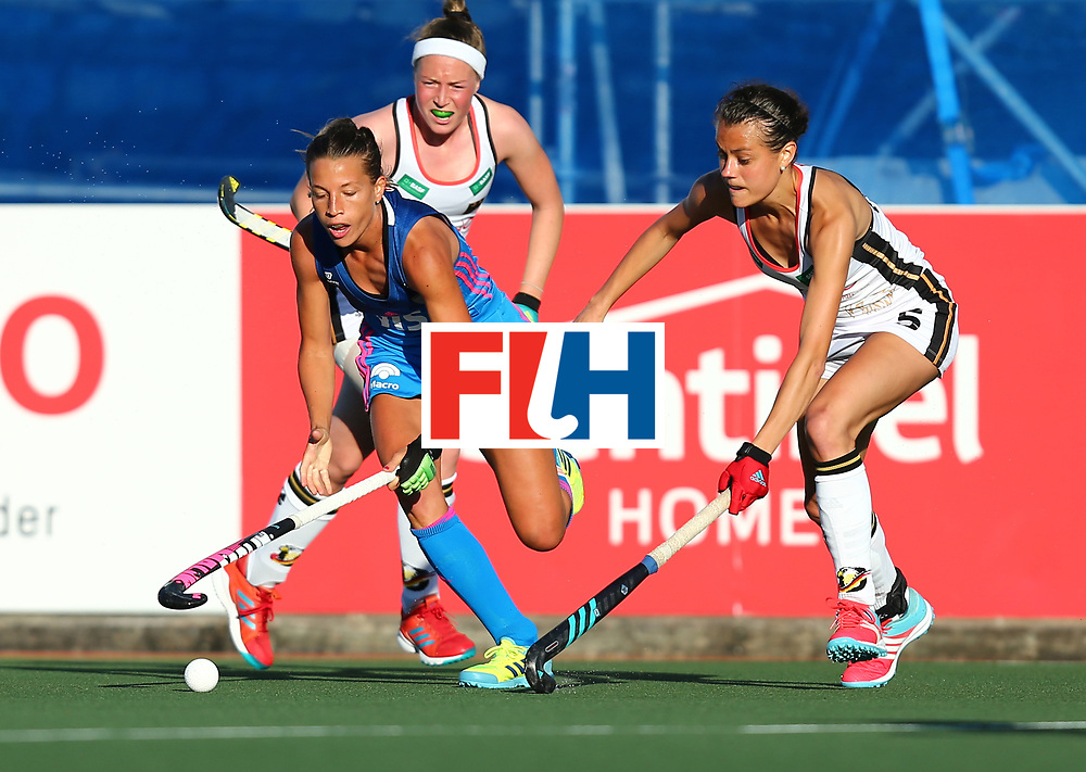 New Zealand, Auckland - 21/11/17  <br /> Sentinel Homes Women&rsquo;s Hockey World League Final<br /> Harbour Hockey Stadium<br /> Copyrigth: Worldsportpics, Rodrigo Jaramillo<br /> Match ID: 10301 - GER vs ARG<br /> Photo: (12) MERINO Delfina against (5) ORUZ Selin