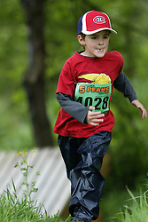 """(Kingston, Ontario---16/05/09) """"Liam Walsh running in the kids race at the 2009 Salomon 5 Peaks Trail Running series Race held in Kingston, Ontario as part of the Eastern Ontario/Quebec division. """"  Copyright photograph Sean Burges / Mundo Sport Images, 2009. www.mundosportimages.com / www.msievents.com."""