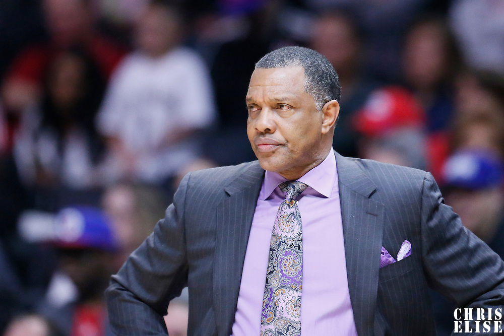 10 January 2016: New Orleans Pelicans head coach Alvin Gentry is seen during the Los Angeles Clippers 114-111 overtime victory over the New Orleans Pelicans, at the Staples Center, Los Angeles, California, USA.