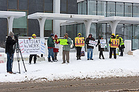Bangor, Maine, USA. 03 January, 2019. Whose House? Our House! rally outside the Federal Building organized by Bangor Indivisible and Indivisible MDI. ©Jennifer Steen Booher/Alamy News