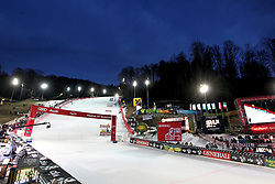 04.01.2013, Crveni Spust, Zagreb, AUT, FIS Ski Alpin Weltcup, Slalom, Damen, 2. Lauf, im Bild Uebersicht auf die beleuchtete Rennstrecke // Overview of the illuminated track // before 2nd Run of ladies Slalom of the FIS ski alpine world cup at Crveni Spust course in Zagreb, Croatia on 2013/01/04. EXPA Pictures © 2013, PhotoCredit: EXPA/ Pixsell/ Zeljko Lukunic..***** ATTENTION - for AUT, SLO, SUI, ITA, FRA only *****